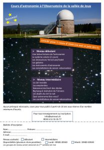 cours d'astronomie mai-juin 2017