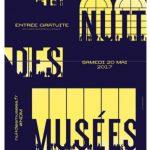 Poster nuit des musée 2017