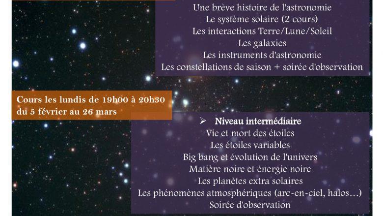 cours d astronomie