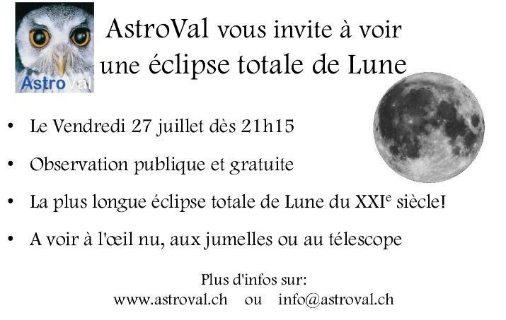 AstroVal eclipse totale de Lune 2018