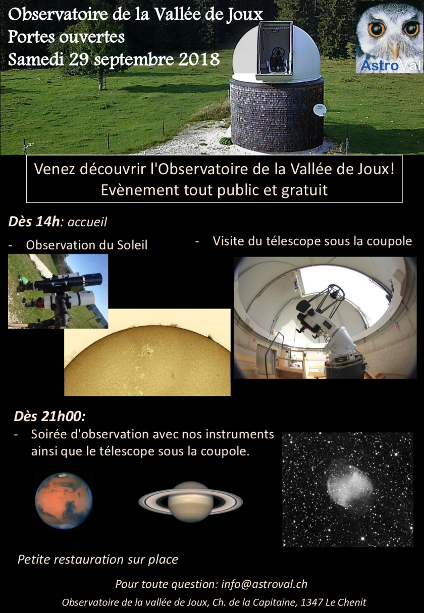 Portes ouvertes AstroVal 2018