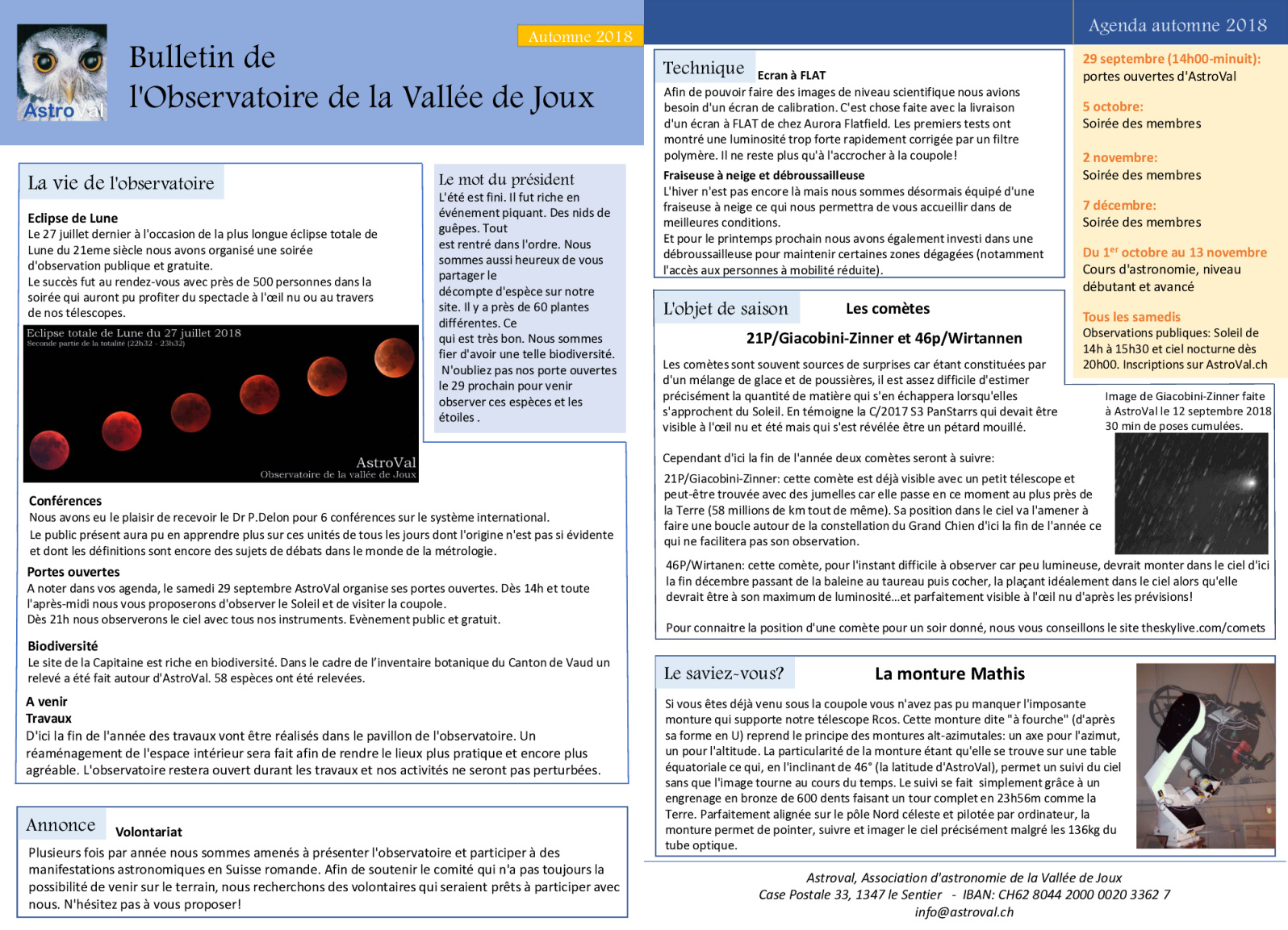 Bulletin AstroVal automne 2018