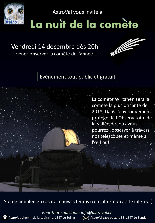 Soirée d'observation de la comète 46P/Wirtanen