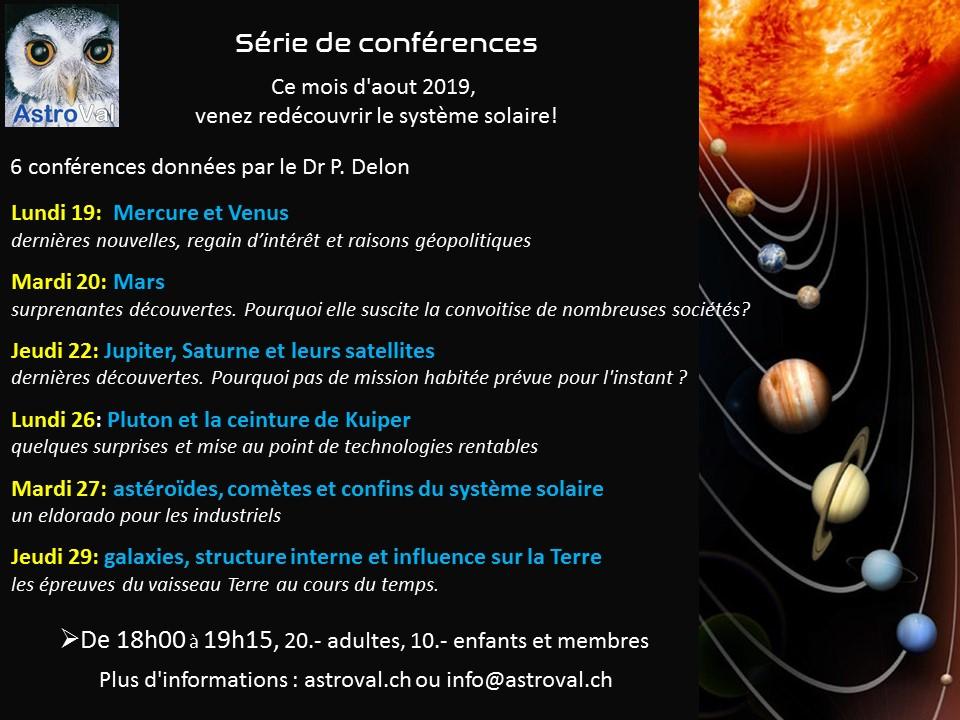 Liste des conférences d'aout 2019